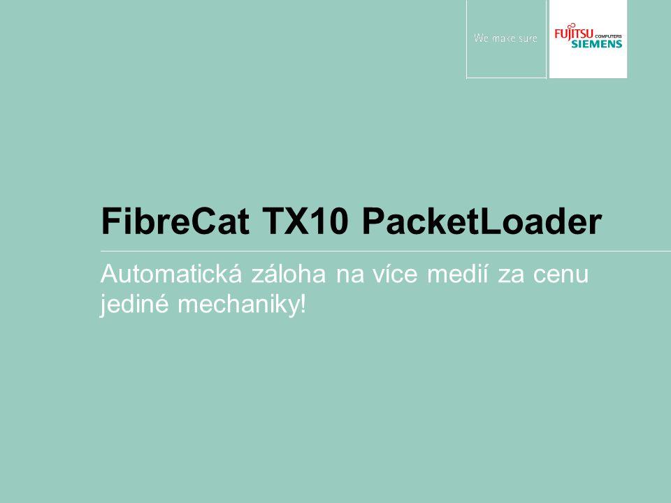 FibreCat TX10 PacketLoader Automatická záloha na více medií za cenu jediné mechaniky!