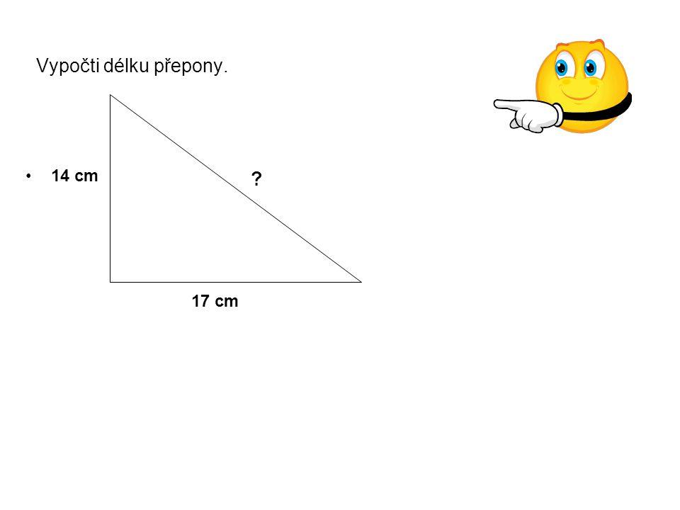 Vypočítej délku strany AC – odvěsny.