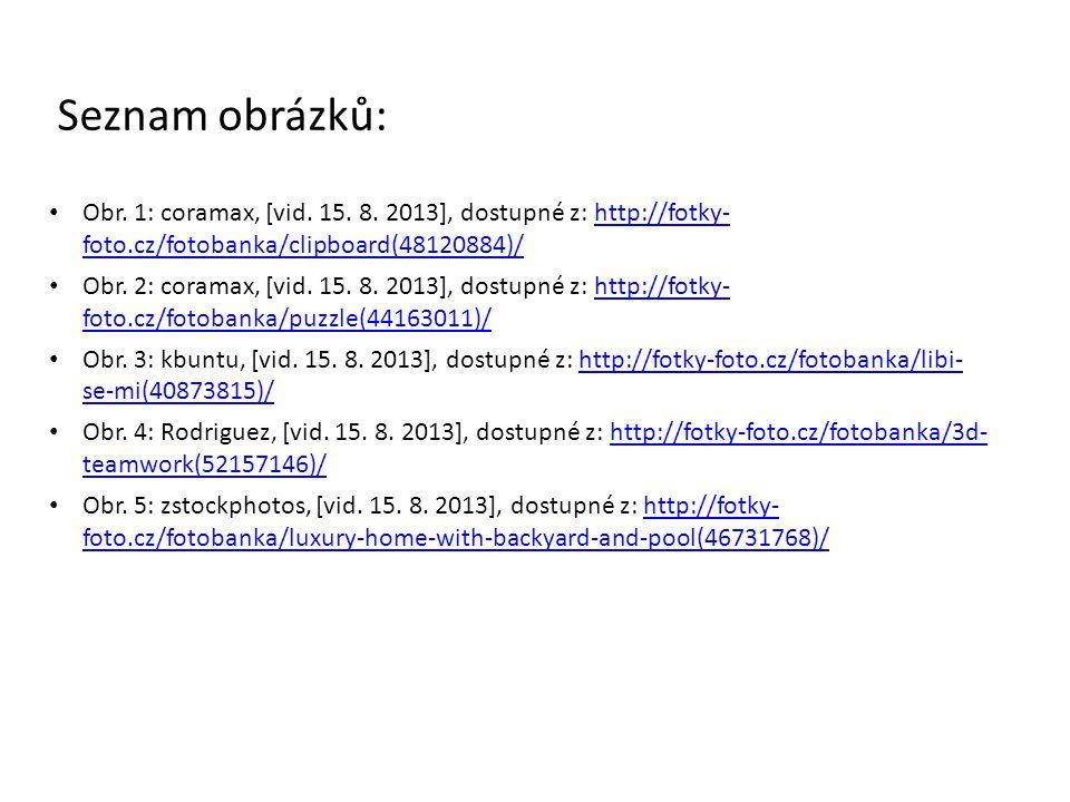 Seznam obrázků: Obr. 1: coramax, [vid. 15. 8. 2013], dostupné z: http://fotky- foto.cz/fotobanka/clipboard(48120884)/http://fotky- foto.cz/fotobanka/c