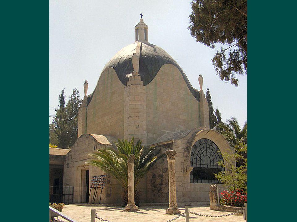 Kostel byl postaven v letech 1953 až 1955 františkány na základech byzantského kláštera z 5. století. Od kostela je nádherný výhled na Chrámovou horu.