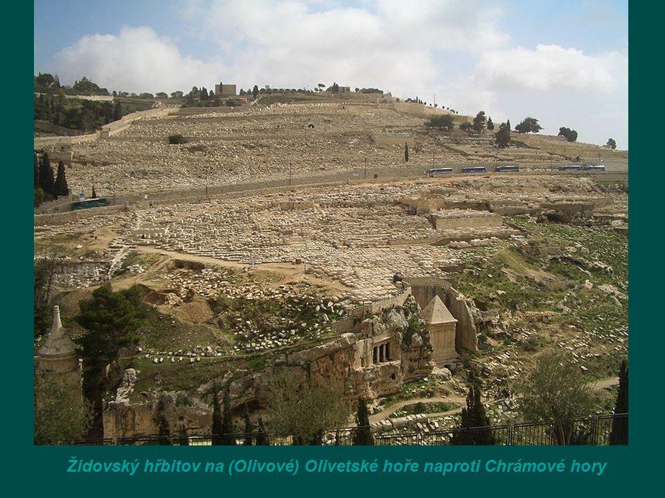Židovský hřbitov na (Olivové) Olivetské hoře naproti Chrámové hory