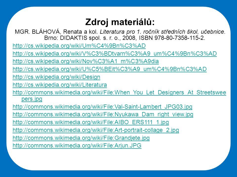 Střední škola Oselce Zdroj materiálů: MGR. BLÁHOVÁ, Renata a kol.
