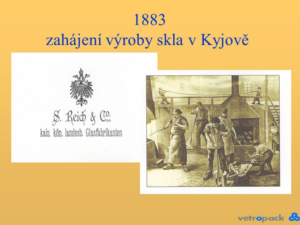 16.století - počátek výroby skla na Kyjovsku (Staré Hutě) 1883 - zahájení výroby skla v Kyjově 1883 zahájení výroby skla v Kyjově