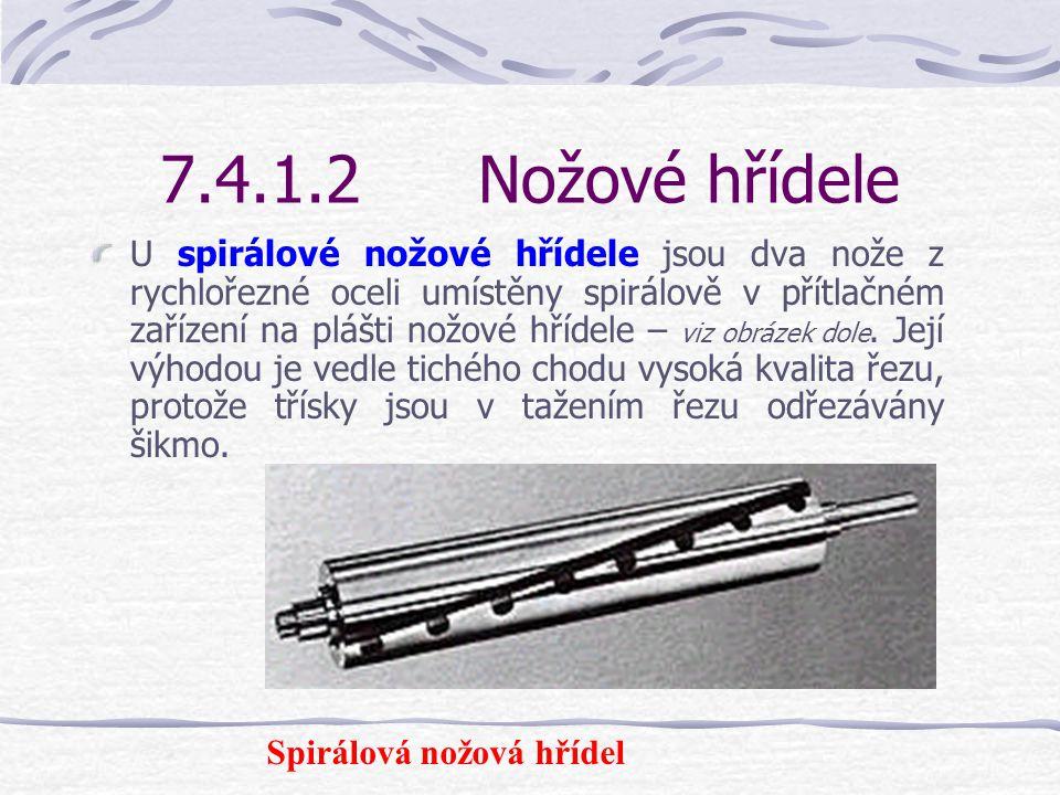 7.4.1.2Nožové hřídele Zde používané nože z rychlořezné oceli nebo nože se slinutými karbidy (SK) jsou naostřeny na obou podélných hranách. Je-li jedna
