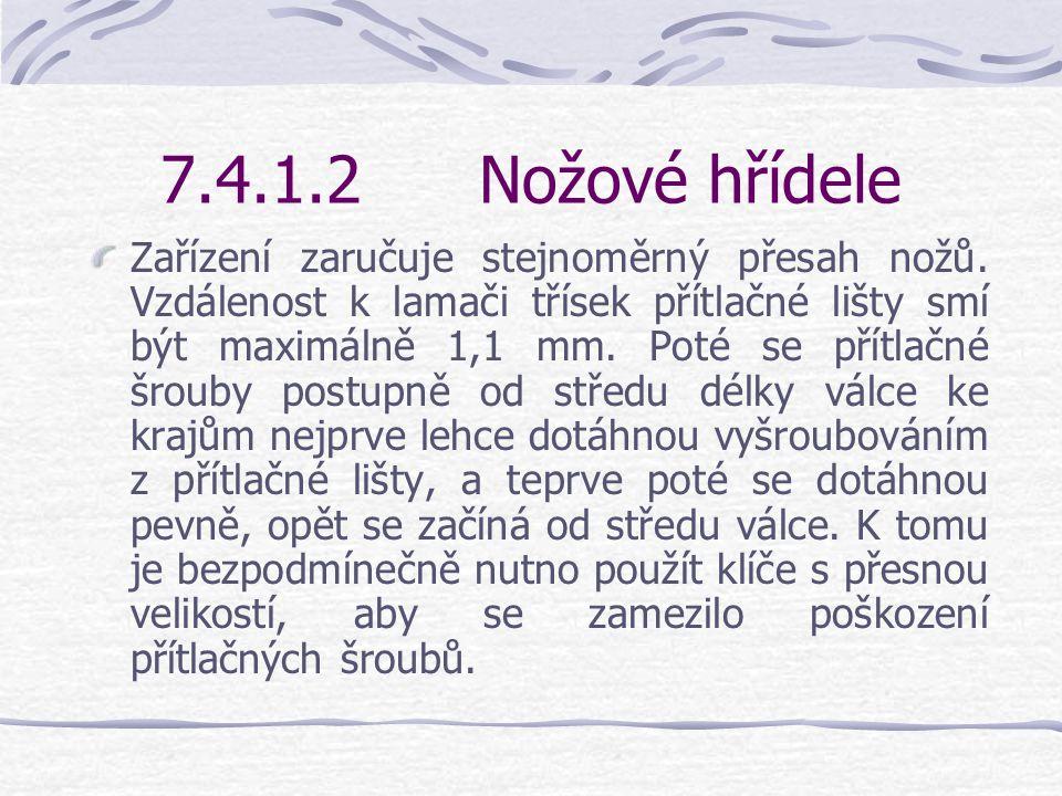 7.4.1.2Nožové hřídele Nasazovací měrka pro hoblovací nože