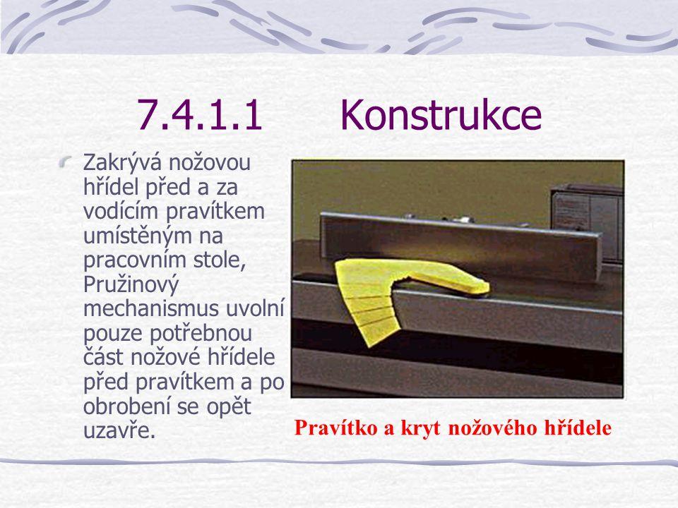 7.4.1.1Konstrukce V těžkém stojanu je uložena nožová hřídel. Na stojanu jsou upevněny dva pracovní stoly, které se označují jako přední a zadní stůl.