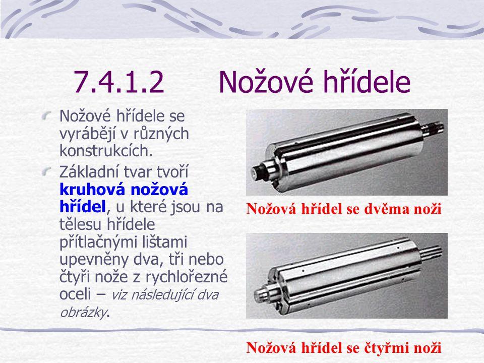 7.4.1.1Konstrukce Oba stoly jsou na hranách přivrácených k nožové hřídeli opatřeny zvláštním klínovým zakončením – viz obrázek vedle. To může být pro