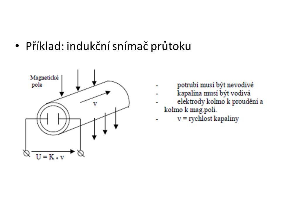 Příklad: indukční snímač průtoku