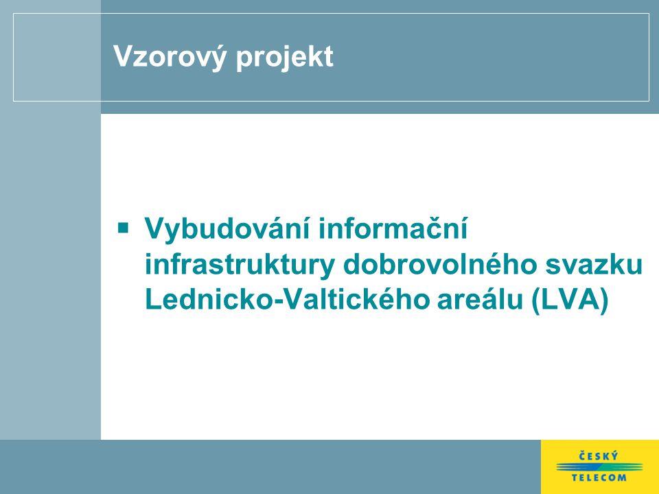 Vzorový projekt Vybudování informační infrastruktury dobrovolného svazku Lednicko-Valtického areálu (LVA)