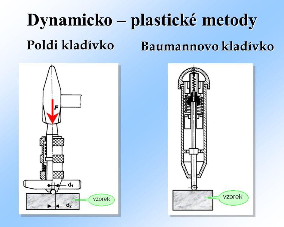 Dynamicko – plastické metody Baumannovo kladívko Poldi kladívko