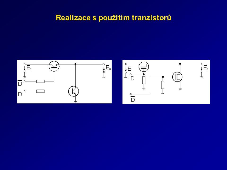 Realizace s použitím tranzistorů