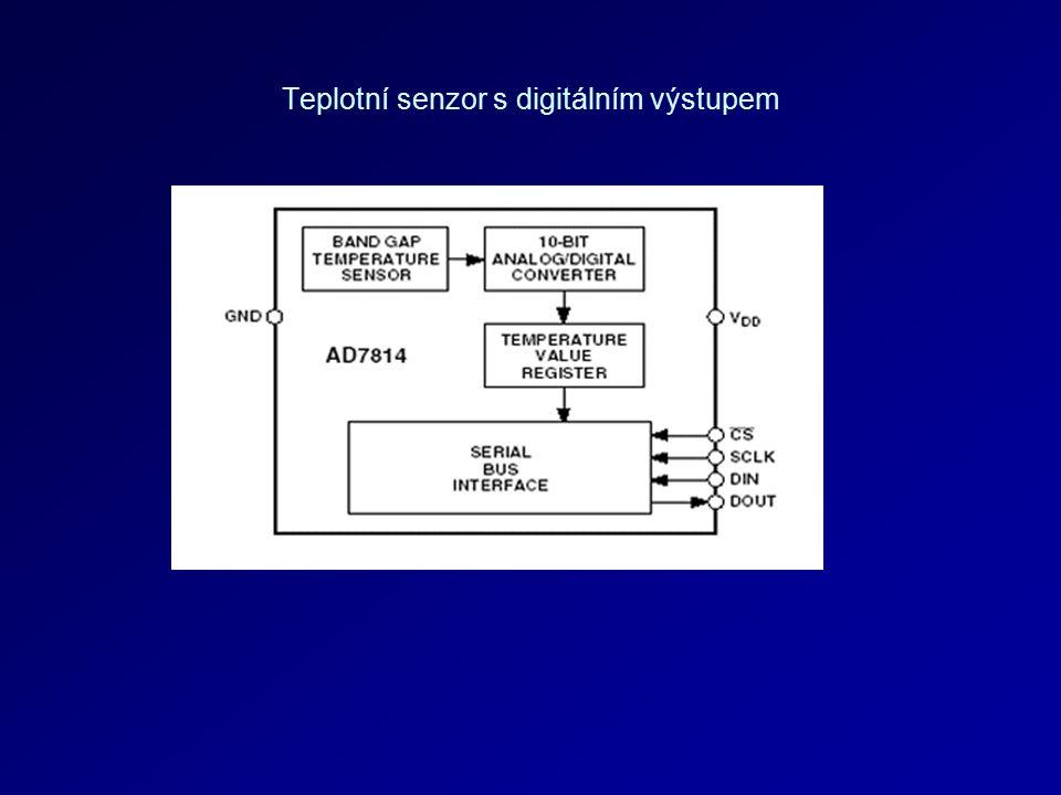 Teplotní senzor s digitálním výstupem