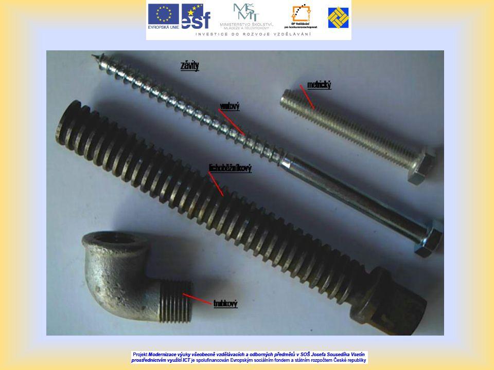 Opakování 1.Jaké je základní rozdělení spojů.2.Rozdělení šroubů, šroubové spoje, příklady použití.
