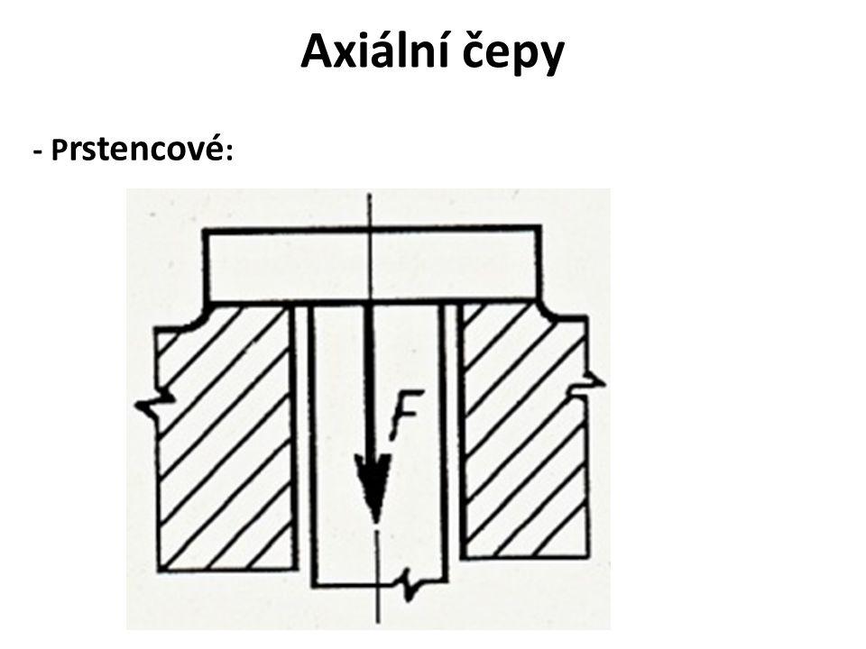 Axiální čepy - P rstencové :