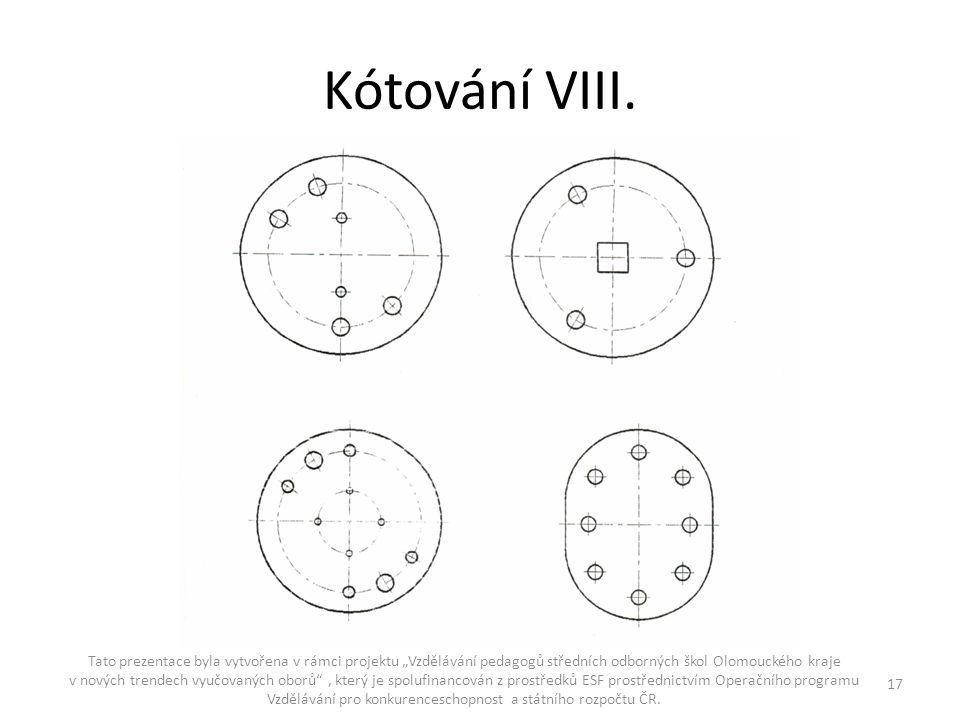 """Kótování VIII. Tato prezentace byla vytvořena v rámci projektu """"Vzdělávání pedagogů středních odborných škol Olomouckého kraje v nových trendech vyučo"""