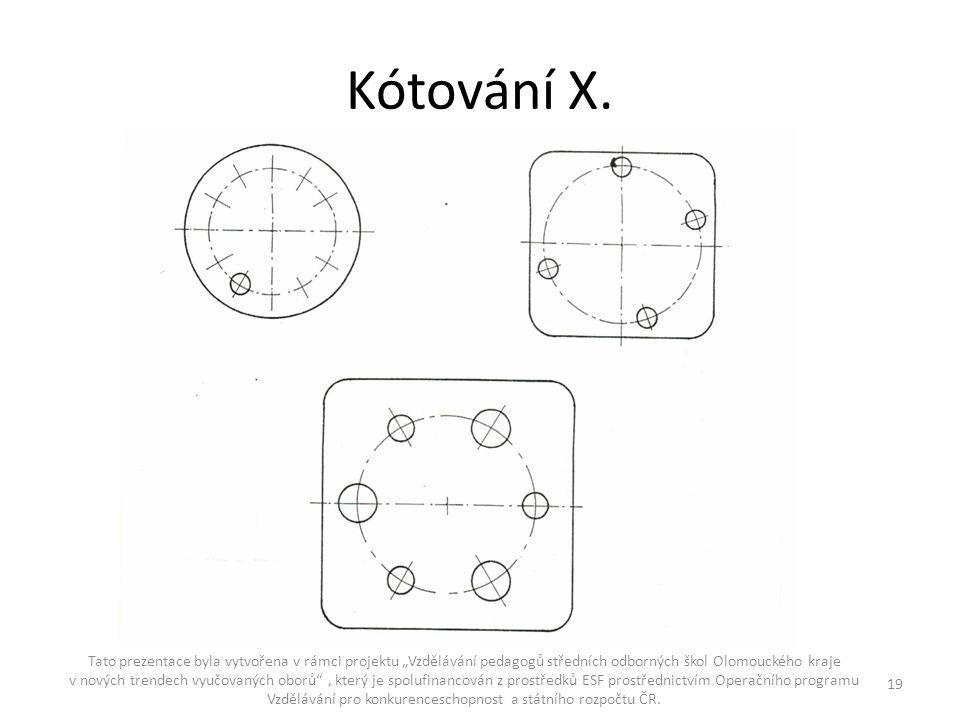 """Kótování X. Tato prezentace byla vytvořena v rámci projektu """"Vzdělávání pedagogů středních odborných škol Olomouckého kraje v nových trendech vyučovan"""