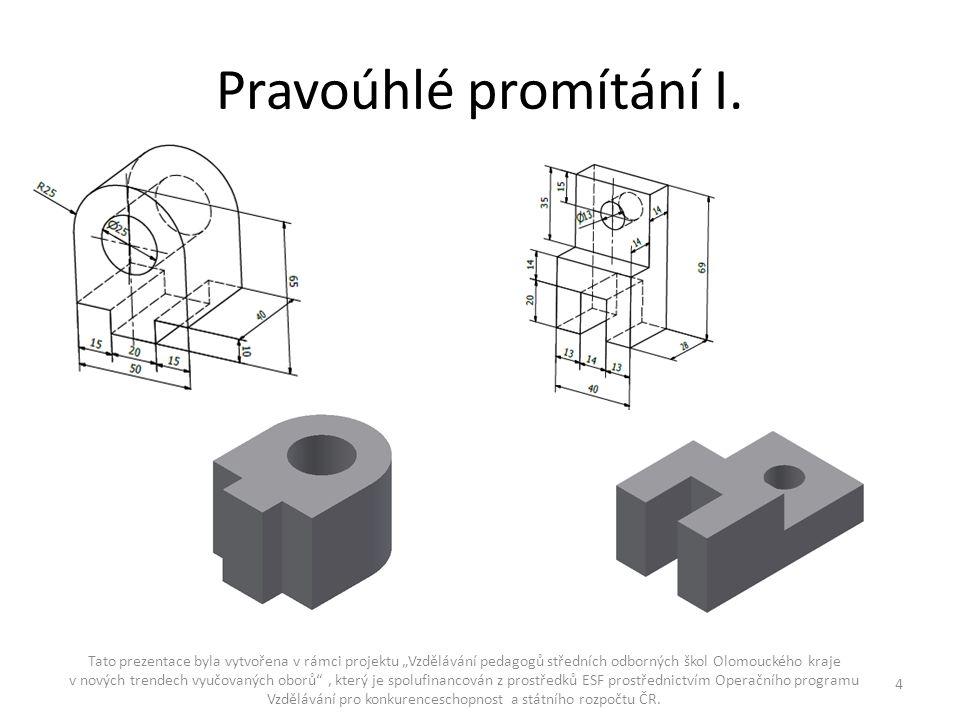 Pravoúhlé promítání II.