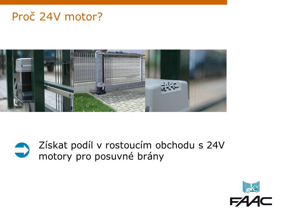 Proč 24V motor? Získat podíl v rostoucím obchodu s 24V motory pro posuvné brány 