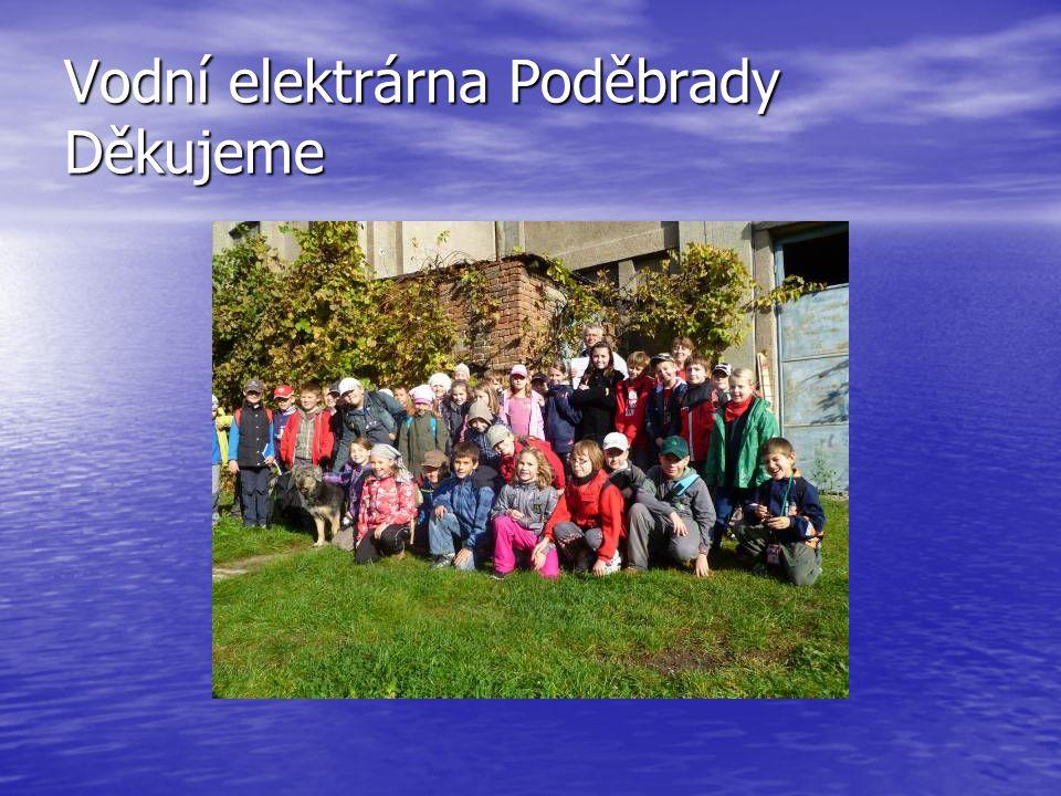 Vodní elektrárna Poděbrady Děkujeme