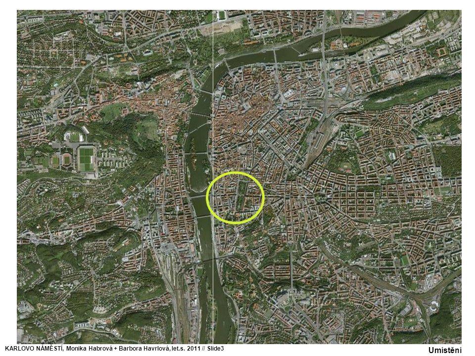 Uliční profil – Masarykovo nábřeží, M 1:250 KARLOVO NÁMĚSTÍ, Monika Habrová + Barbora Havrlová, let.s.