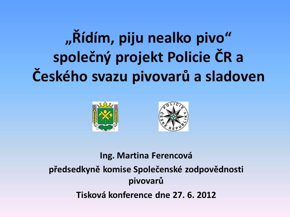 Novinky projektu v roce 2012  Větší zájem pivovarů při terénních aktivitách  Nová podoba alkoholtestru  Spuštění webových stránek www.ridimpijunealkopivo.cz