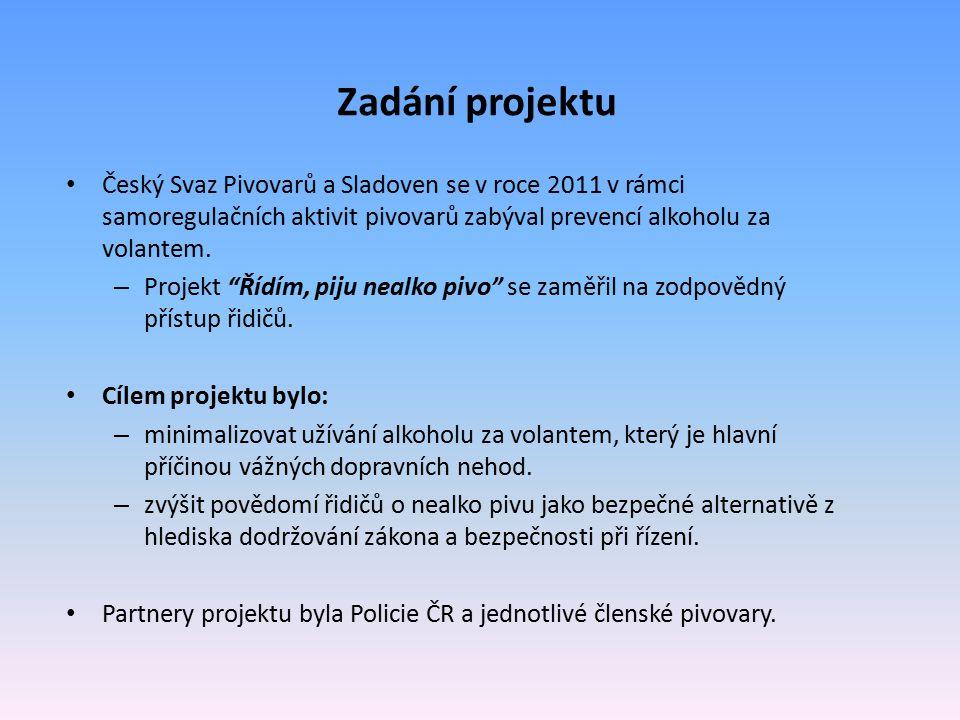 Řídím, piju nealko pivo – pilotní projekt roku 2011 V roce 2011 Český svaz pivovarů a sladoven zorganizoval ve spolupráci s Policií ČR terénní akce.