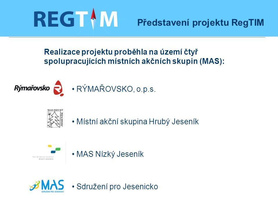 Realizace projektu proběhla na území čtyř spolupracujících místních akčních skupin (MAS): RÝMAŘOVSKO, o.p.s.