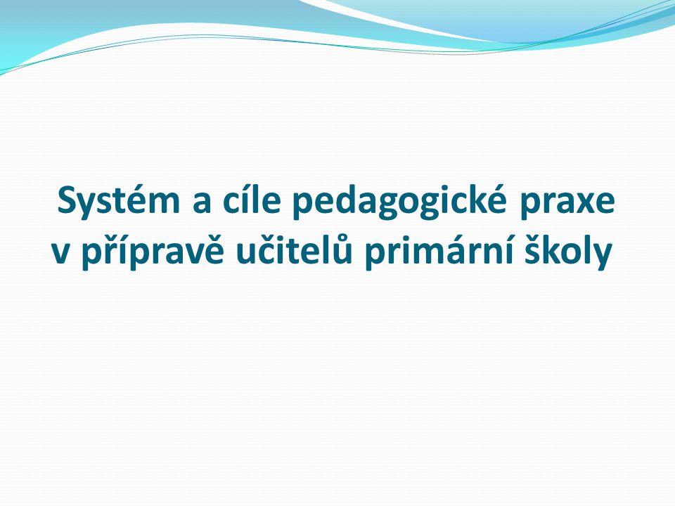 Systém a cíle pedagogické praxe v přípravě učitelů primární školy