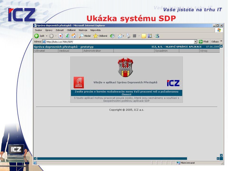 Ukázka systému SDP