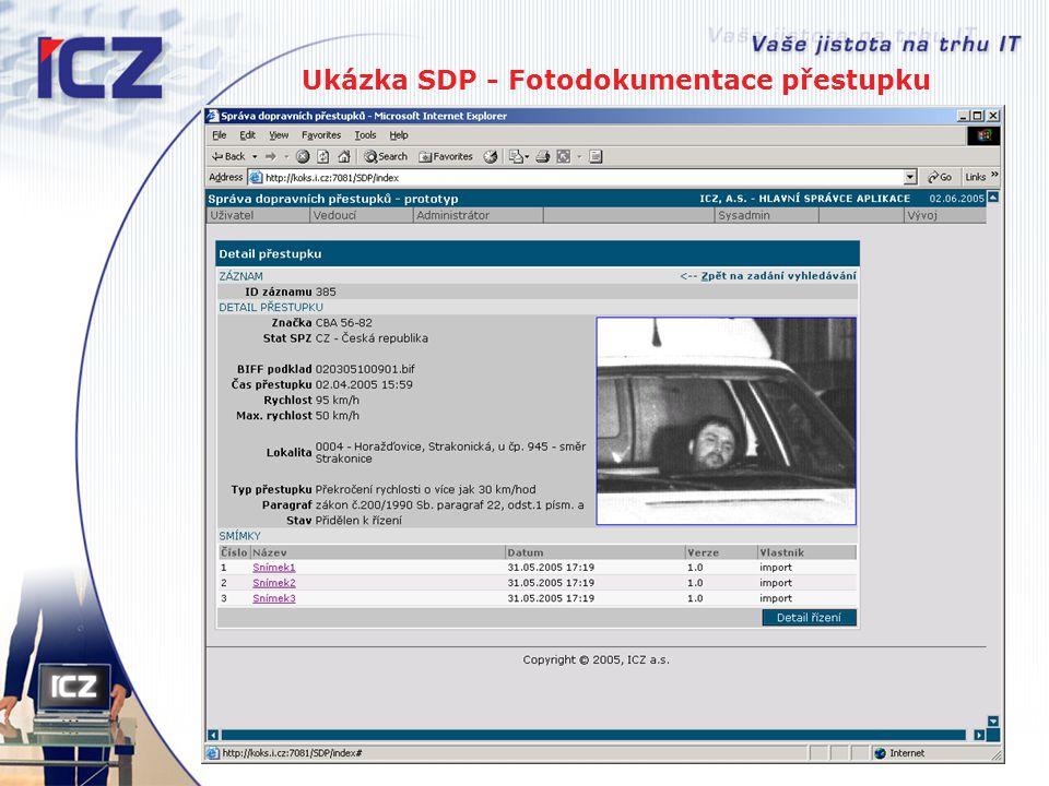 Ukázka SDP - Fotodokumentace přestupku