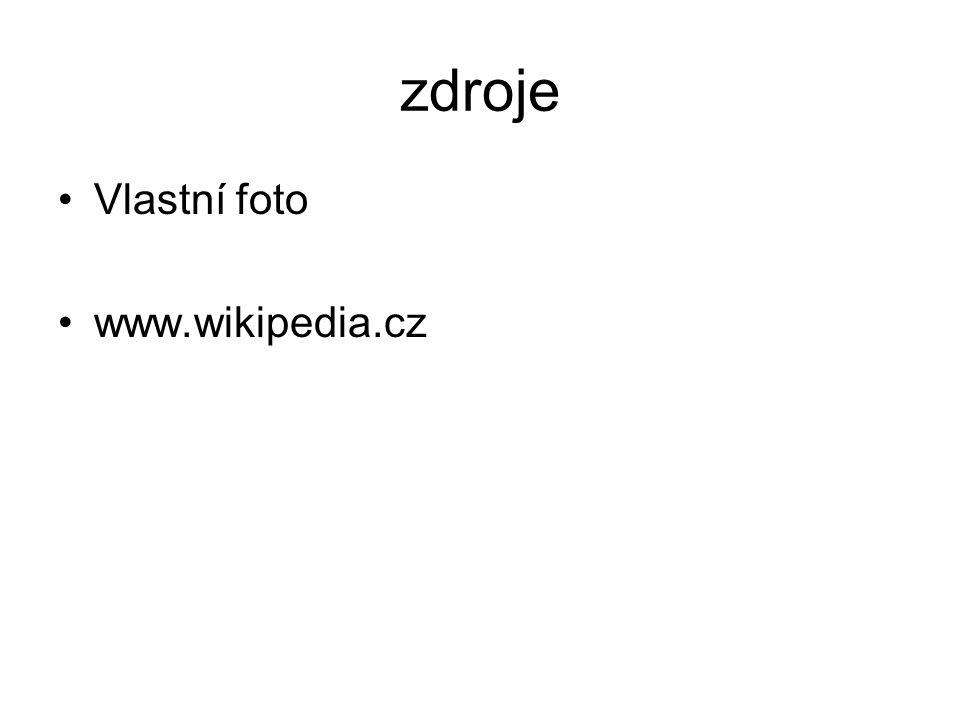 zdroje Vlastní foto www.wikipedia.cz
