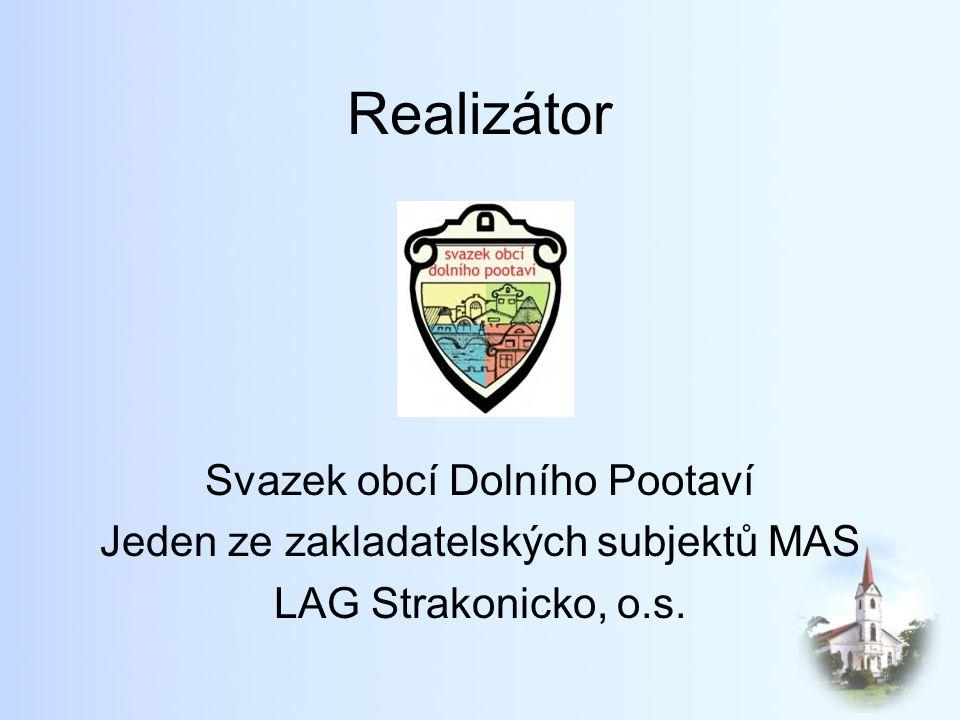 Realizátor Svazek obcí Dolního Pootaví Jeden ze zakladatelských subjektů MAS LAG Strakonicko, o.s.