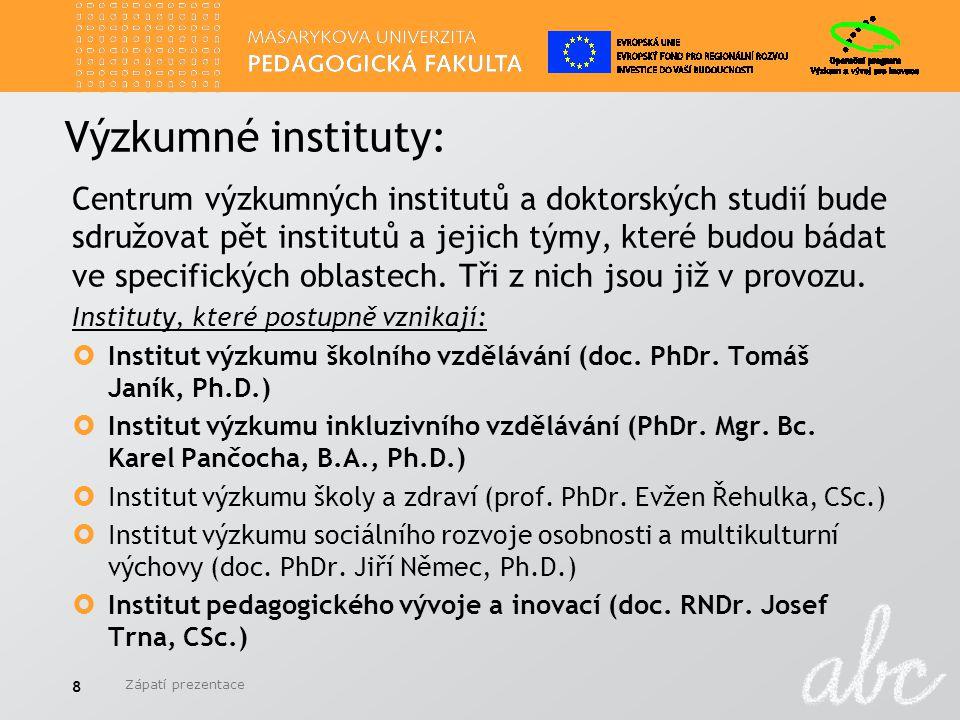Zápatí prezentace 19