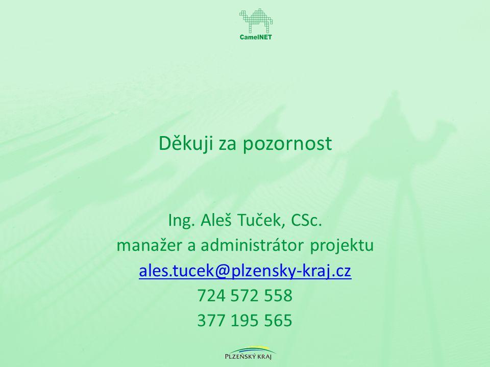 Děkuji za pozornost Ing. Aleš Tuček, CSc.