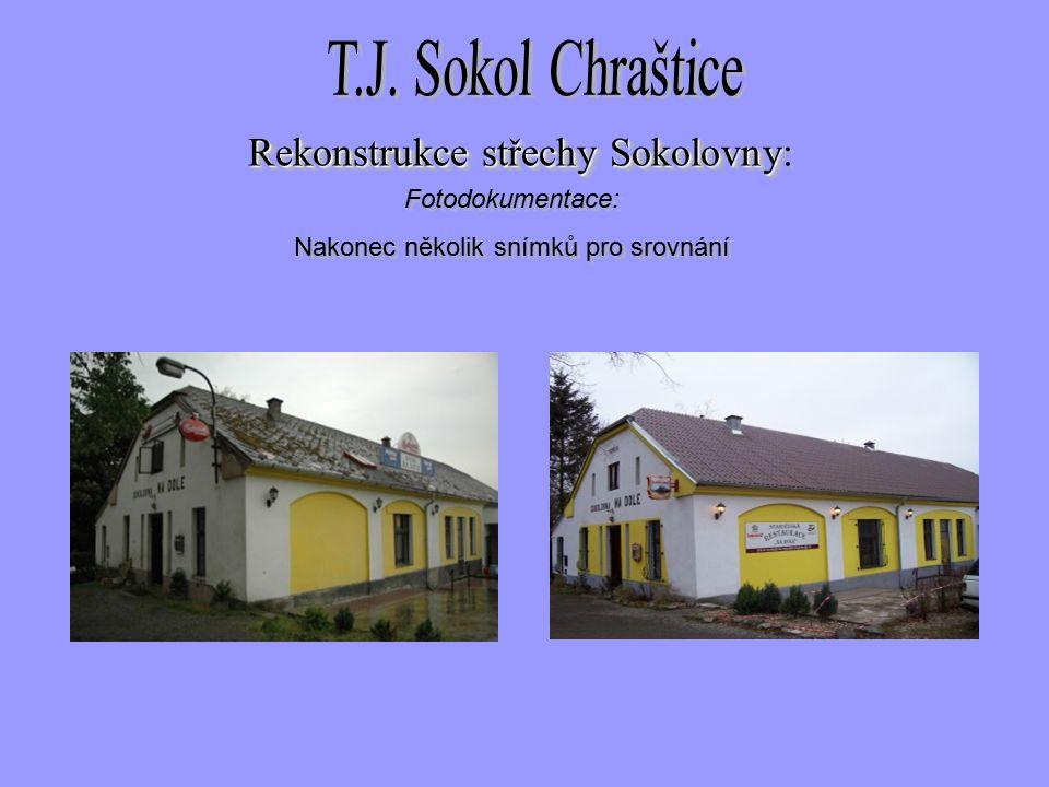 Fotodokumentace: Nakonec několik snímků pro srovnání Fotodokumentace: Nakonec několik snímků pro srovnání Rekonstrukce střechySokolovny Rekonstrukce střechy Sokolovny: