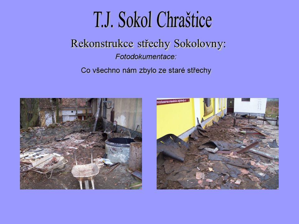 Fotodokumentace: Co všechno nám zbylo ze staré střechy Fotodokumentace: Co všechno nám zbylo ze staré střechy Rekonstrukce střechySokolovny Rekonstrukce střechy Sokolovny: