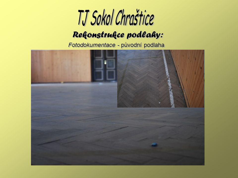 Fotodokumentace - stav prací 1.8.2008 Rekonstrukce podlahy: