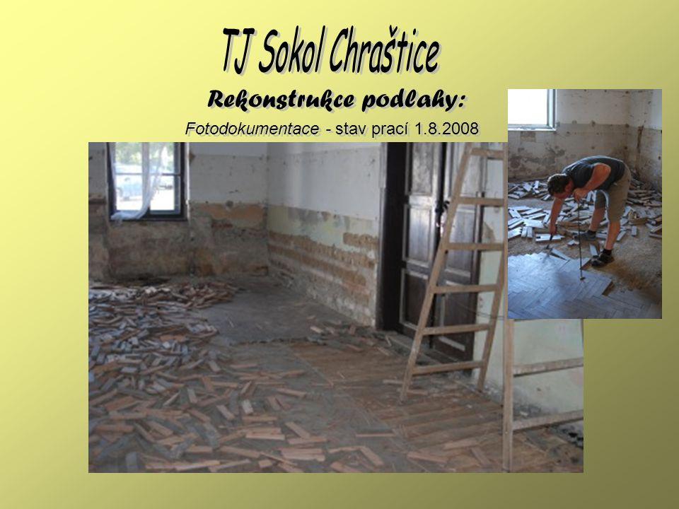 Fotodokumentace - současný stav 28.12.2008 Rekonstrukce podlahy:
