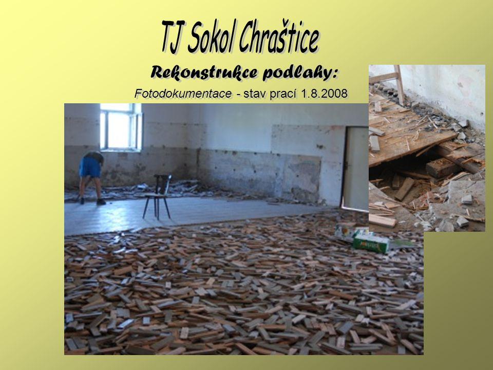 Fotodokumentace - co všechno nám zbylo Rekonstrukce podlahy: