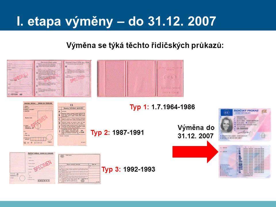 I. etapa výměny – do 31.12.
