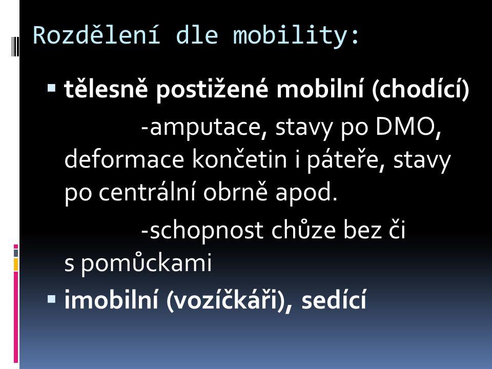  Paraplegie Th2 – Th5 – zmenšený dechový objem, úplná nezávislost ve všech denních činnostech, vozík nezbytný, chůze přísunem s aparáty na DK, řízení automobilu možné při ovládání rukama.