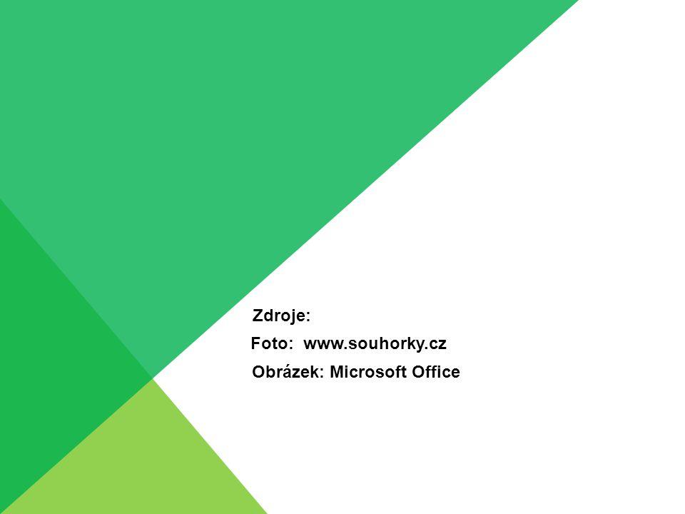 Zdroje: Foto: www.souhorky.cz Obrázek: Microsoft Office