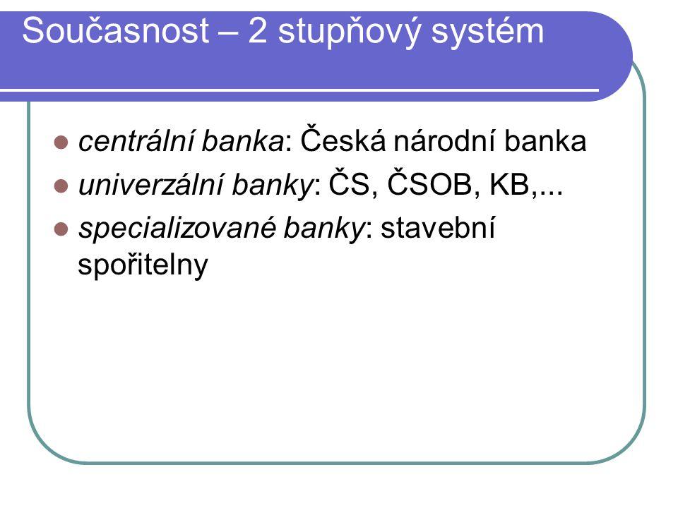 Zprostředkovatele finančních služeb obchodní banky; spořitelní a úvěrová sdružení; investiční a finanční společnosti; investiční a jiné peněžní fondy.