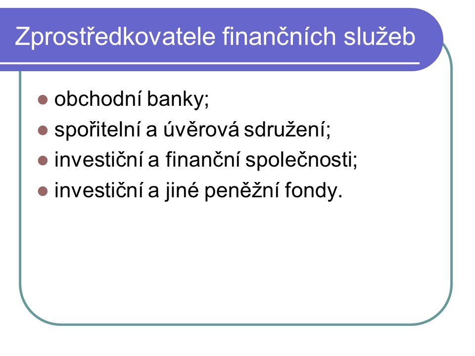 Služby bank zprostředkovatelskou činnost uskutečnění platebního styku odborné poradenství.