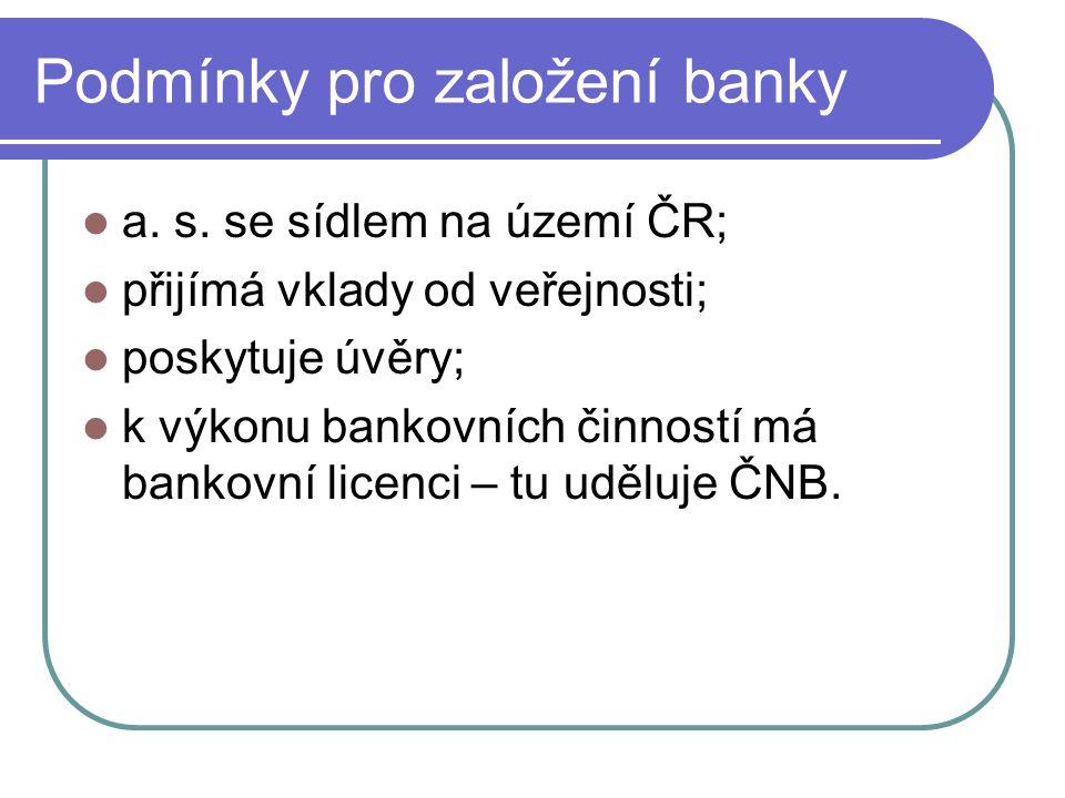 Postup získání licence předložit strategický záměr banky, obchodní plán a analýzu zvoleného trhu; správní řízení; banka podléhá dohledu země