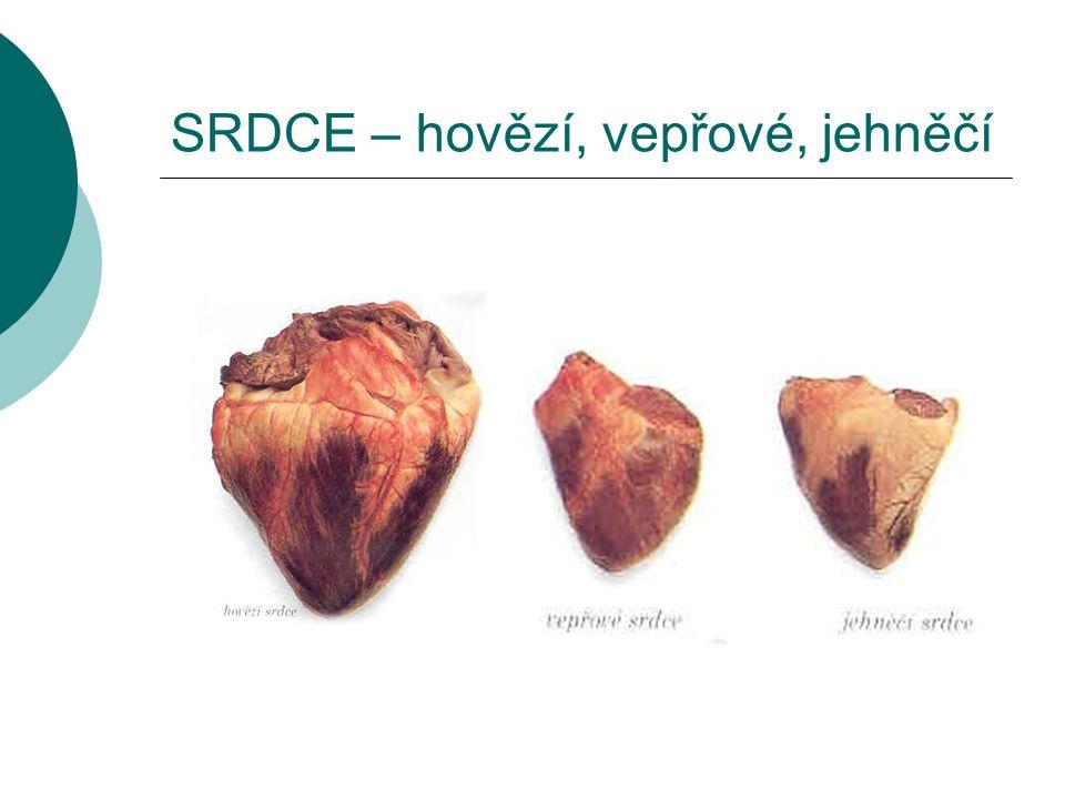 SRDCE – hovězí, vepřové, jehněčí