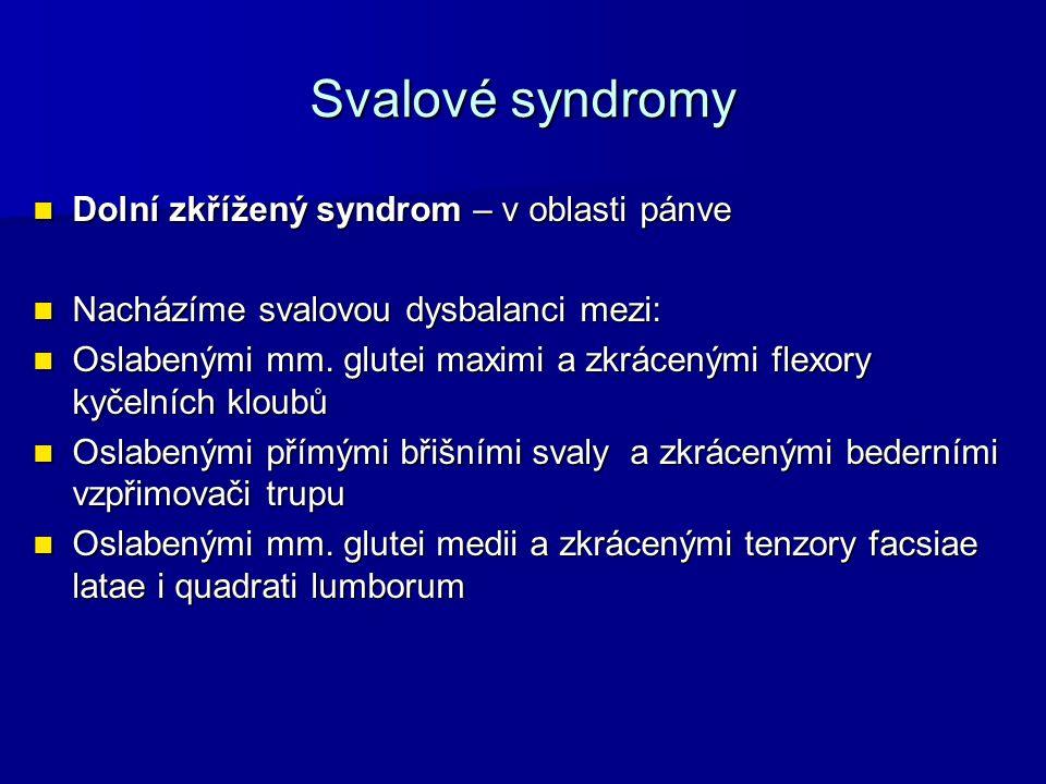 Dolní zkřížený syndrom Tento typ dysbalance vede ke změně statických a dynamických poměrů v oblasti pánve a dolního lumbálního sektoru.