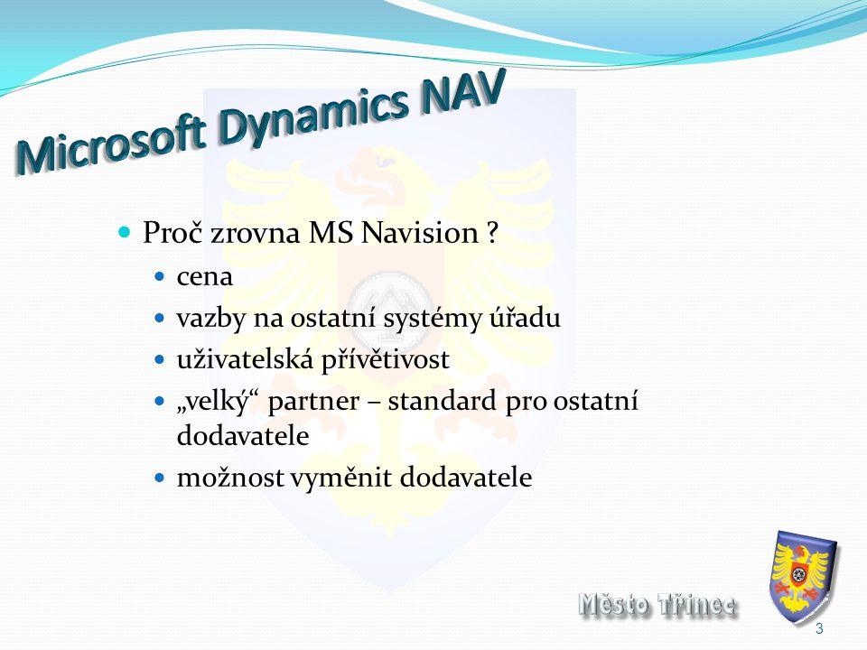 """Proč zrovna MS Navision ? cena vazby na ostatní systémy úřadu uživatelská přívětivost """"velký"""" partner – standard pro ostatní dodavatele možnost vyměni"""