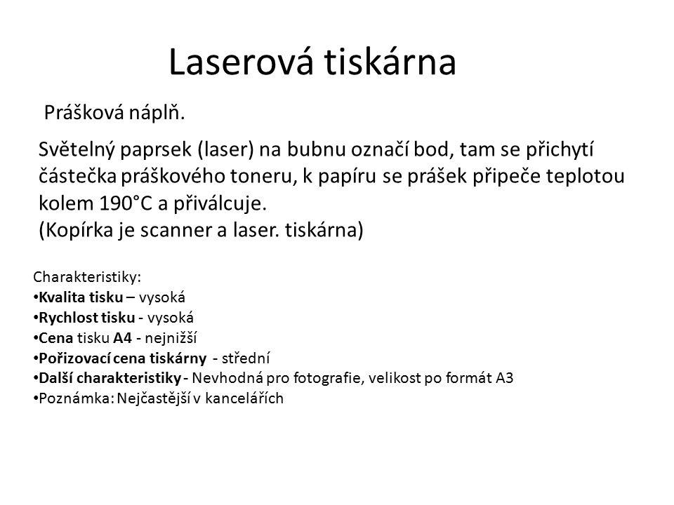 Laserová tiskárna Prášková náplň.