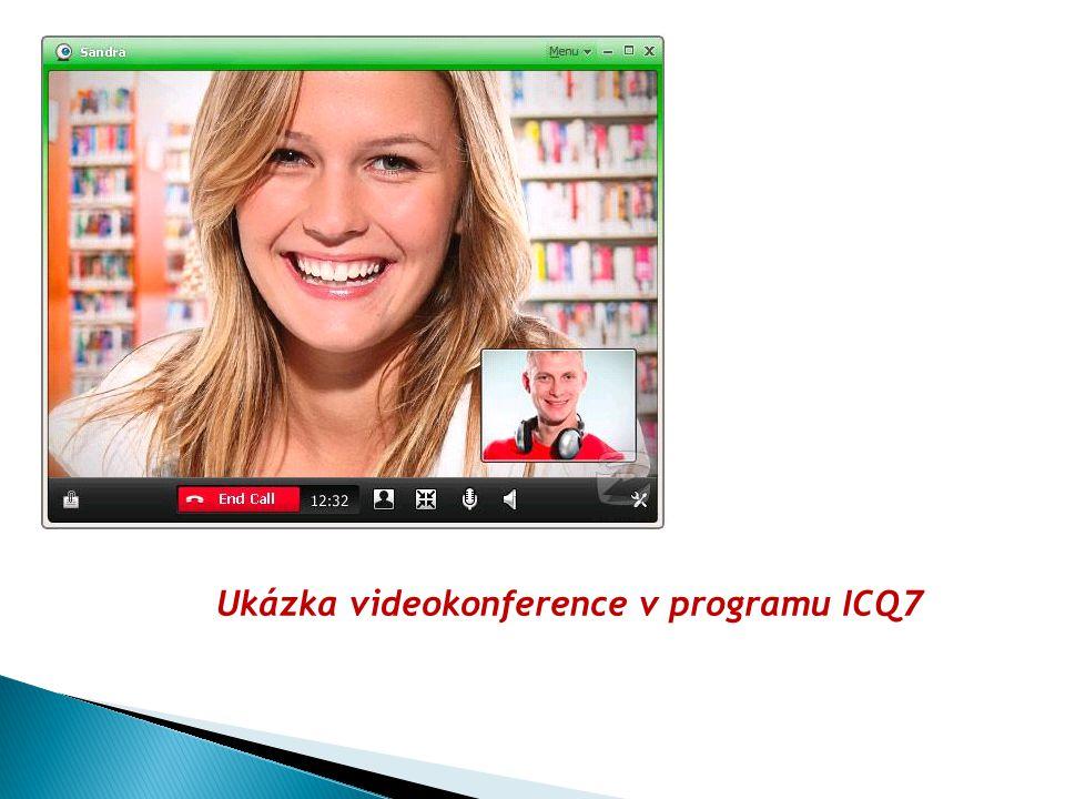 Ukázka videokonference v programu ICQ7